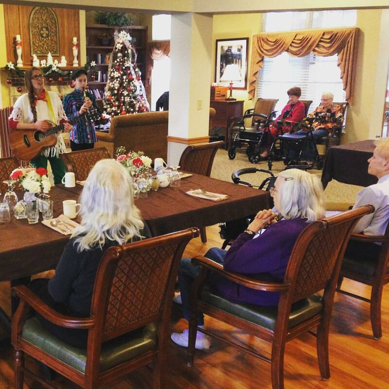 Casey & Minna, Senior Living Music, Oklahoma City, Familiar Favorites, acoustic guitar, Minna Biggs, House Concert, OKC, memory care, assisted living, tin whistle, celtic music, okc