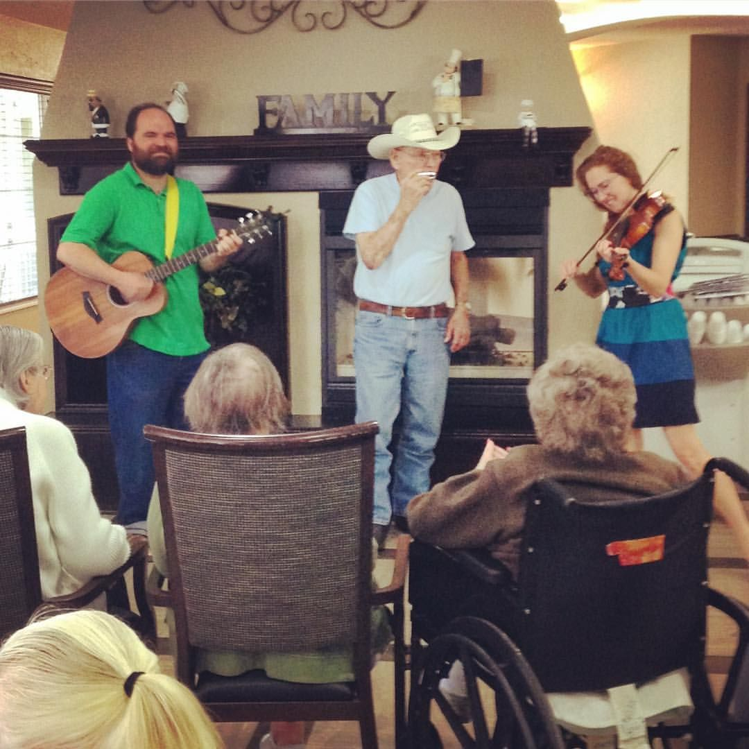Sommerset, Casey & Minna, Senior living oklahoma City music, Assisted Living Oklahoma musician, Picture