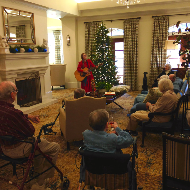 Casey & Minna, Senior Living Music, Oklahoma City, Familiar Favorites, acoustic guitar, Minna Biggs, House Concert, OKC, Live Christmas Music, Acoustic